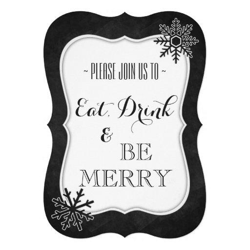Convite da festa de Natal do quadro