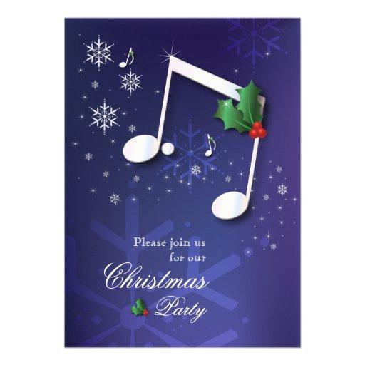 Convite da festa de Natal do tema da música
