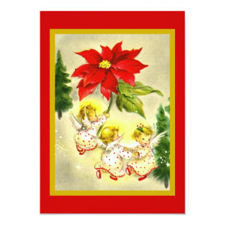 Convite da festa de Natal dos anjos da dança