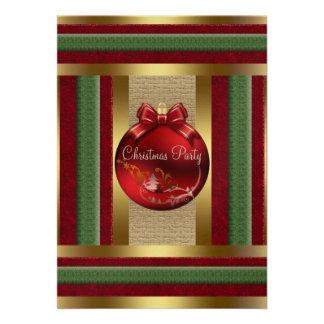 Convite da festa de Natal dos enfeites de natal