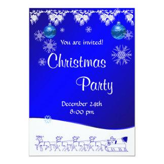 Convite da festa de Natal no azul