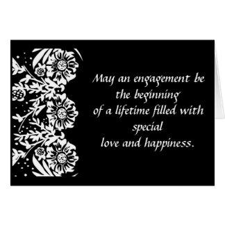 Convite da festa de noivado cartão comemorativo