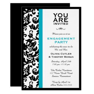 Convite da festa de noivado da beira do damasco