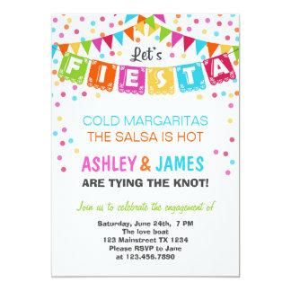Convite da festa de noivado da festa