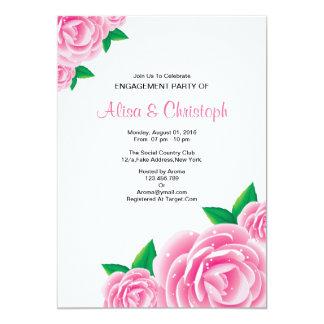Convite da festa de noivado da flor da aguarela