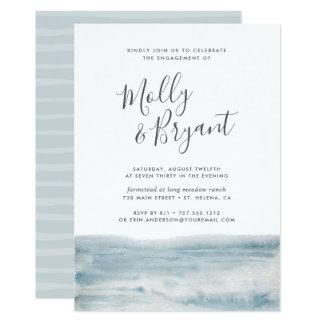 Convite da festa de noivado da maré baixa