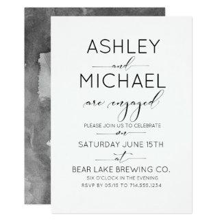 Convite da festa de noivado da tipografia da