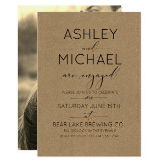 Convite da festa de noivado da tipografia de Kraft