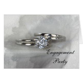 Convite da festa de noivado das alianças de
