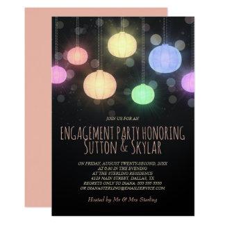 Convite da festa de noivado das lanternas do
