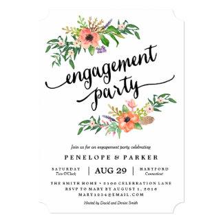 Convite da festa de noivado de Boho