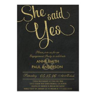 Convite da festa de noivado do brilho do ouro
