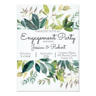 Convite da festa de noivado do buquê das