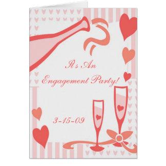 Convite da festa de noivado do casamento cartão comemorativo