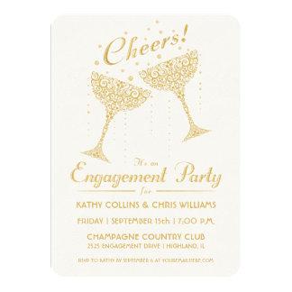 Convite da festa de noivado do elogio de Champagne