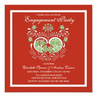 Convite da festa de noivado do feriado