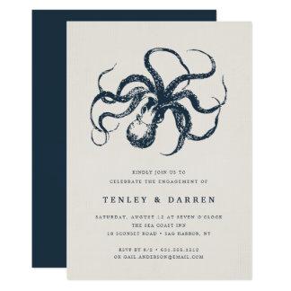 Convite da festa de noivado do mar profundo  