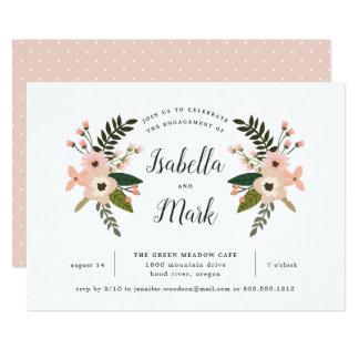 Convite da festa de noivado do prado do pêssego