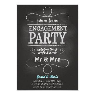 Convite da festa de noivado do quadro