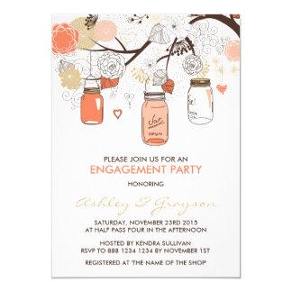 Convite da festa de noivado dos frascos de