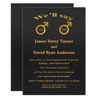 Convite da festa de noivado dos gay da folha de