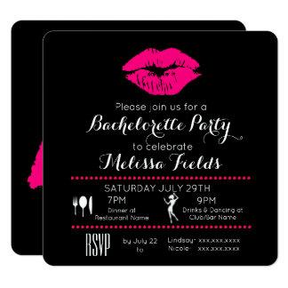 Convite da festa de solteira