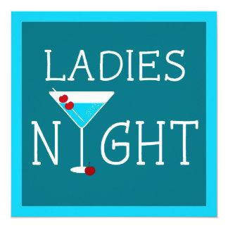 Convite da festa de solteira da noite das senhoras