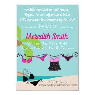 Convite da festa de solteira da praia