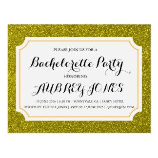 Convite da festa de solteira de Bling da faísca do