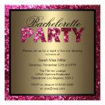 Convite da festa de solteira do brilho do rosa que
