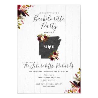 Convite da festa de solteira do estado de Arkansas