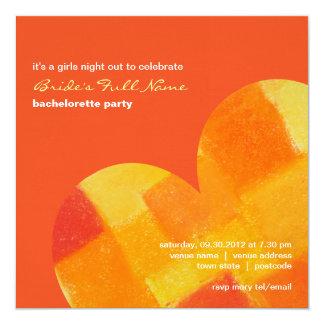 Convite da festa de solteira do tango do verão