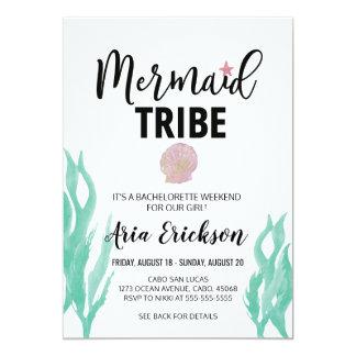 Convite da festa de solteira do tribo da sereia