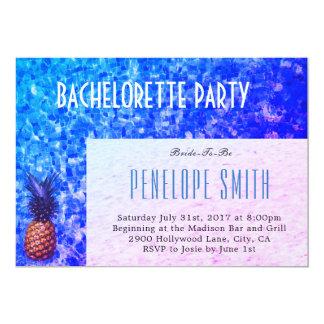 Convite da festa de solteira - piscina/verão