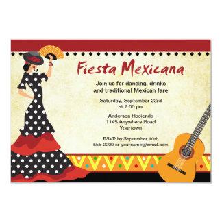 Convite da festa do dançarino do Flamenco
