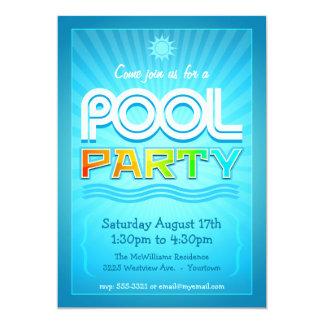 Convite da festa na piscina - celebração do