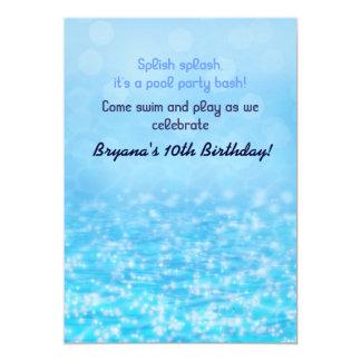 Convite da festa na piscina da praia da água