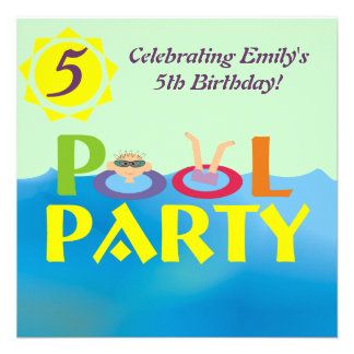 Convite da festa na piscina do aniversário