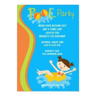 Convite da festa na piscina do aniversário das