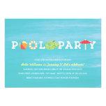 Convite da festa na piscina do aniversário do dive