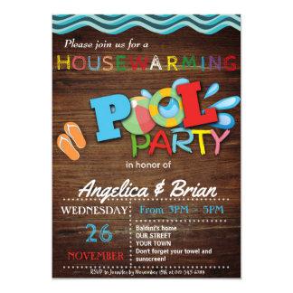 Convite da festa na piscina do Housewarming