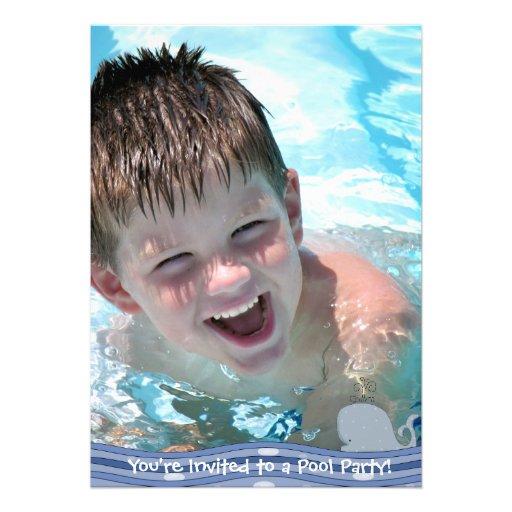 Convite da festa na piscina do respingo de Splish