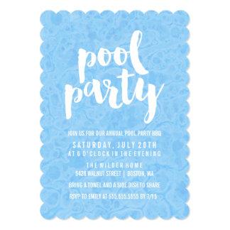 Convite da festa na piscina do verão