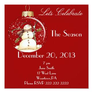 Convite da festa natalícia do boneco de neve