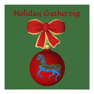 Convite da festa natalícia do cavalo do carrossel