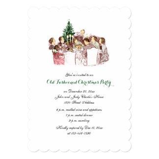 Convite da festa natalícia do comensal do natal convite 12.7 x 17.78cm