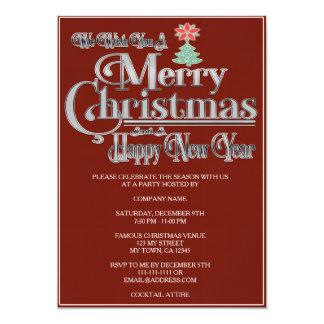 Convite da festa natalícia do Feliz Natal