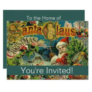 Convite da festa natalícia do impressão da arte do