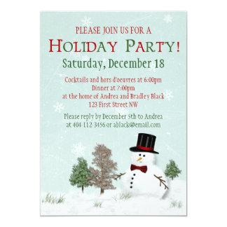 Convite da festa natalícia do inverno do Natal do