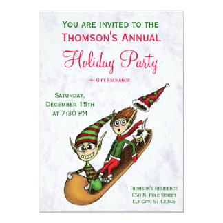 Convite da festa natalícia - passeio louco do